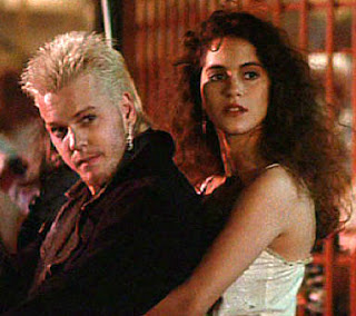 Kiefer Sutherland and Jami Gertz in the Lost Boys