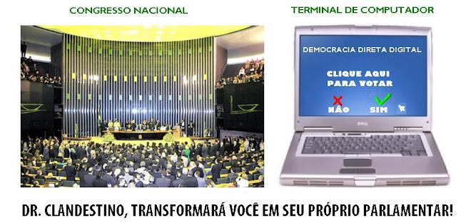 TRAGO O FUTURO PARA O PRESENTE, DEMOCRACIA DIRETA DIGITAL URGENTE!