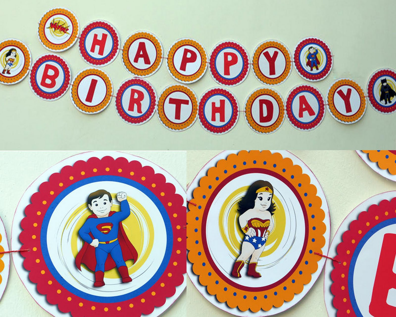 HandyWork: Superkids Party Decor - Party Banner