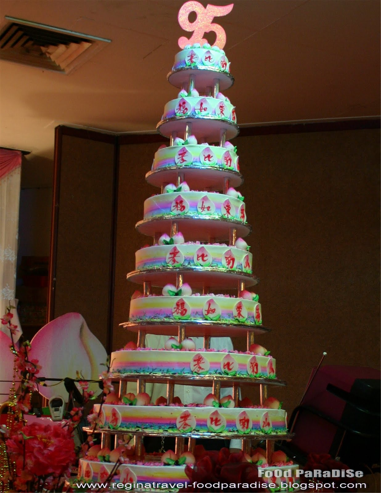 Food Paradise 9 Tiers Birthday Cakes For Grandmas Birthday From