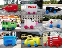 Reciclagem de bidons de plástico, em carros e camiões