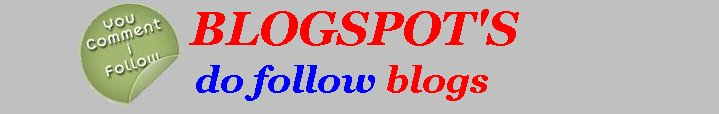 Blogspot's do follow blogs