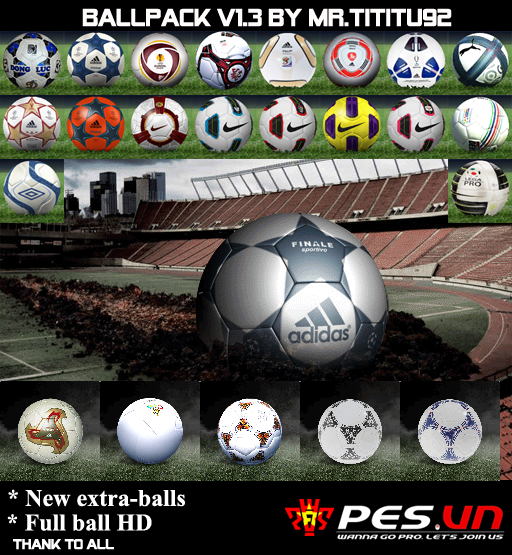 Pes 2010 Demo: Pes 2011 Full HD Ballpack V1.3 By Mr.tititu92 • PESPatchs