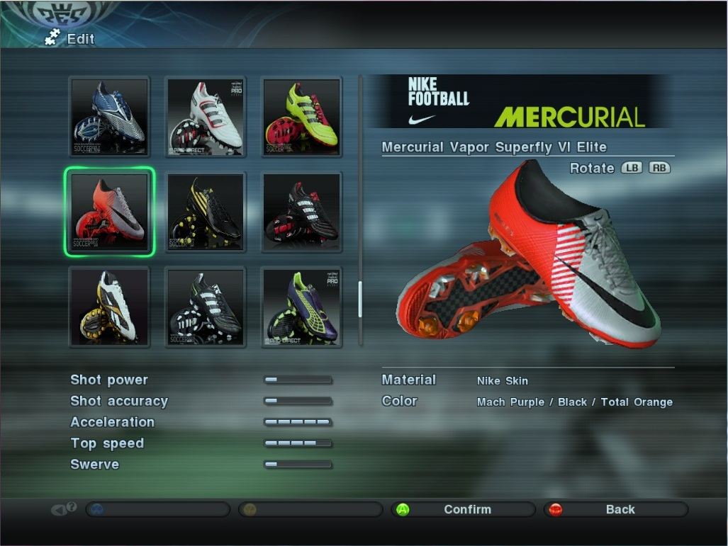 pes 2011 pc boots