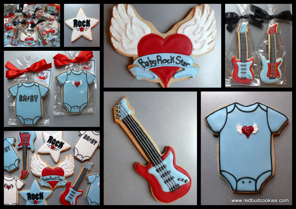 Ideas rock stars baby cookies shower cookies party ideas baby