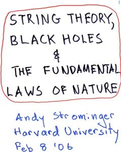 Black Holes String Theory And The Fundamental Laws Of Nature