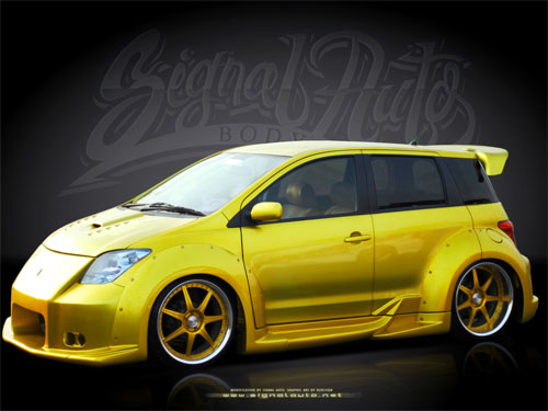 Toyota Scion Xa With Custom Candy Yellow Paint