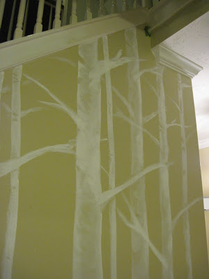 Bromeliad diy birch trees three ways fashion and home for Diy birch tree wall mural