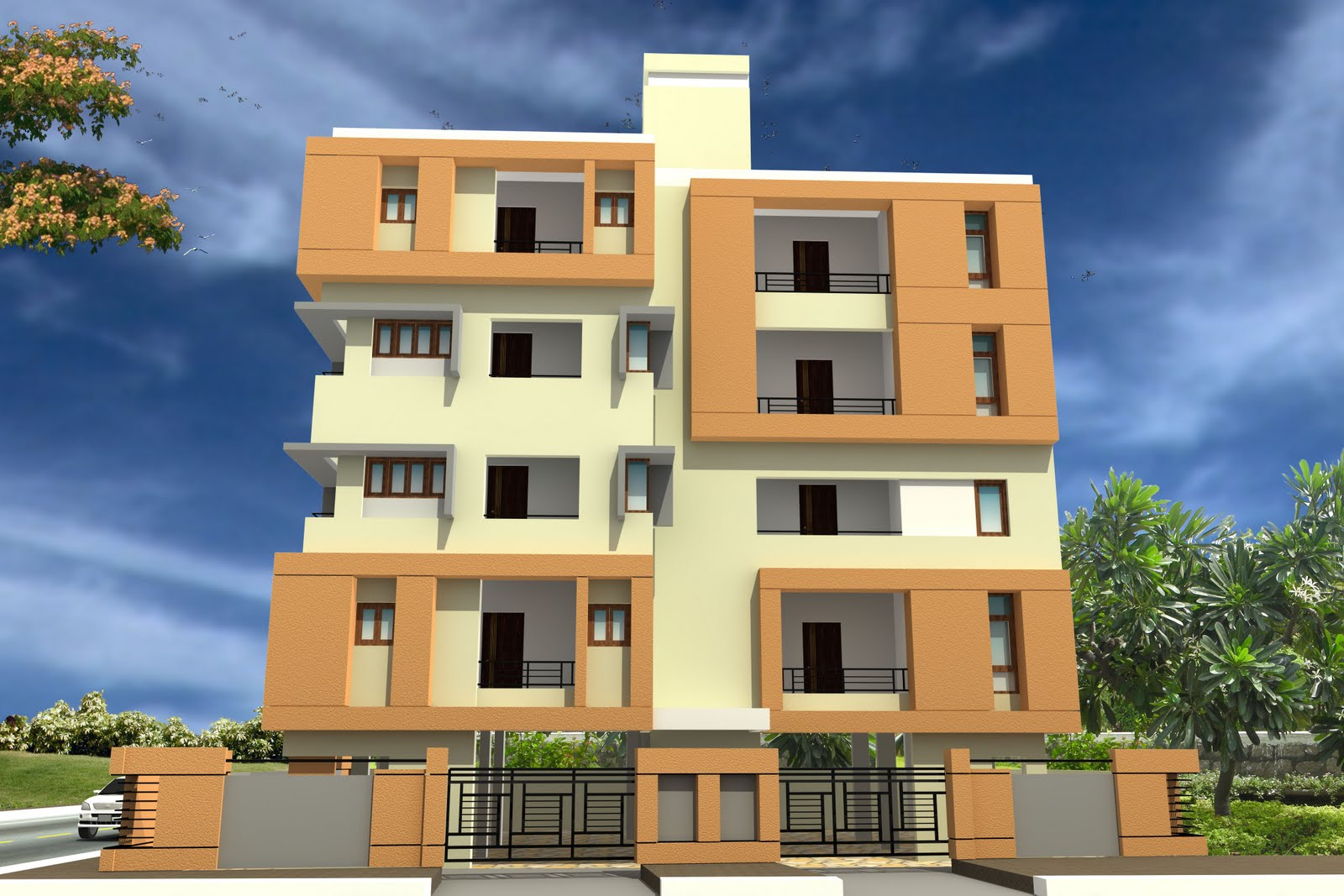 Front Elevation Images Download : Front elevation designs in hyderabad joy studio design