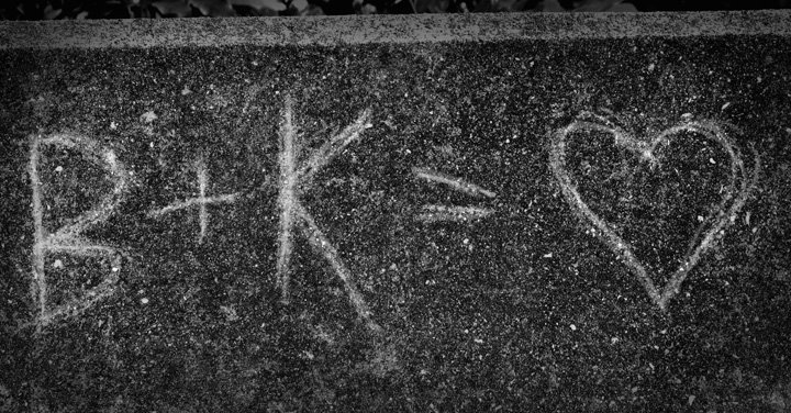 Our Initials Engraved on the Bridge on Moote Rd. About 3 Summers Ago!