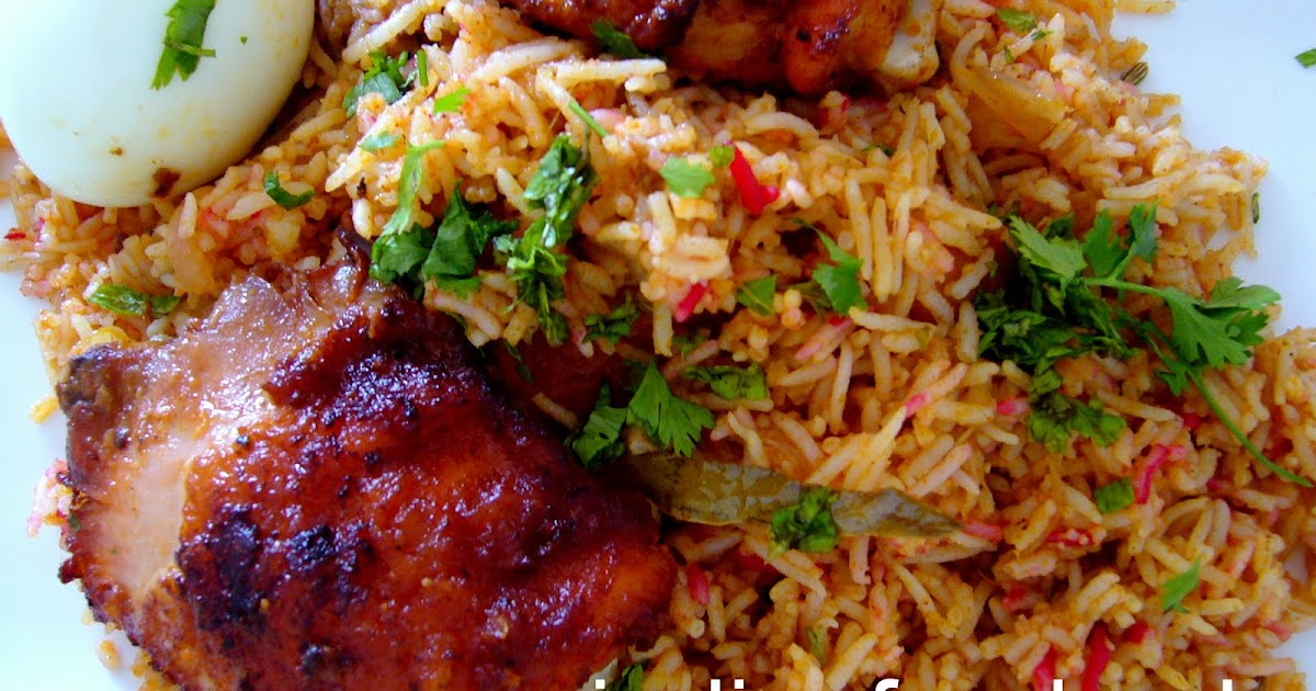 Indian food fried chicken biryani for Chicken biryani at home