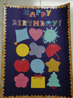 My Handmade Cards Birthday Chart For My Classroom