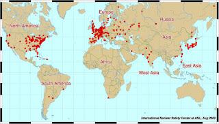 mapa plantas nucleares