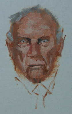 oil man - oil sketch by stephen scott