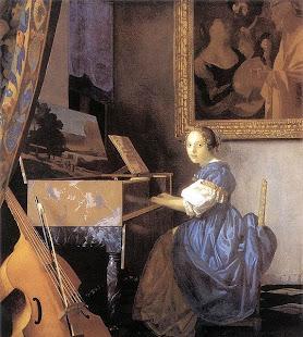 Johannes Vermeer - Dame am spinett (1672)