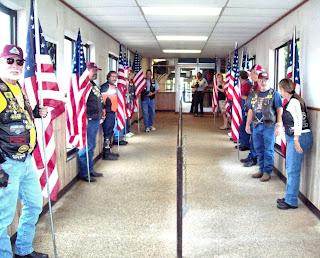 PGR Standing the flag line
