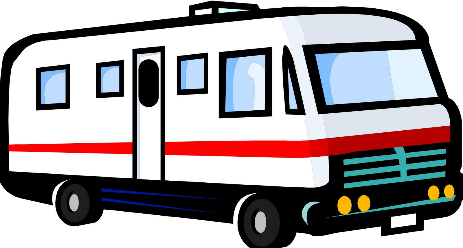 Excellent Camper Drawings Rv Clip Art Related Keywords Amp Suggestions  Rv
