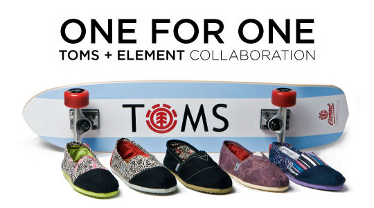 TOMS print campaign which
