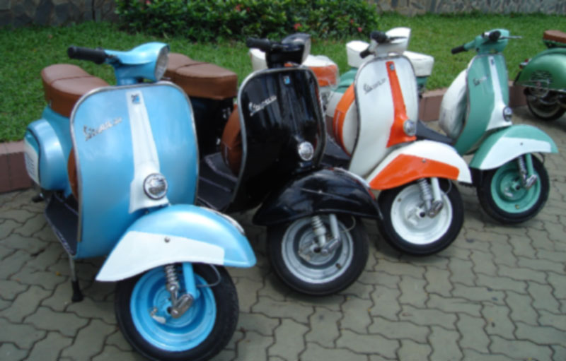 Image of Vespa Super Modifikasi