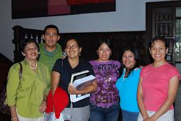 Con Esther Espinoza, Directora del CEUPS - Facultad de Letras