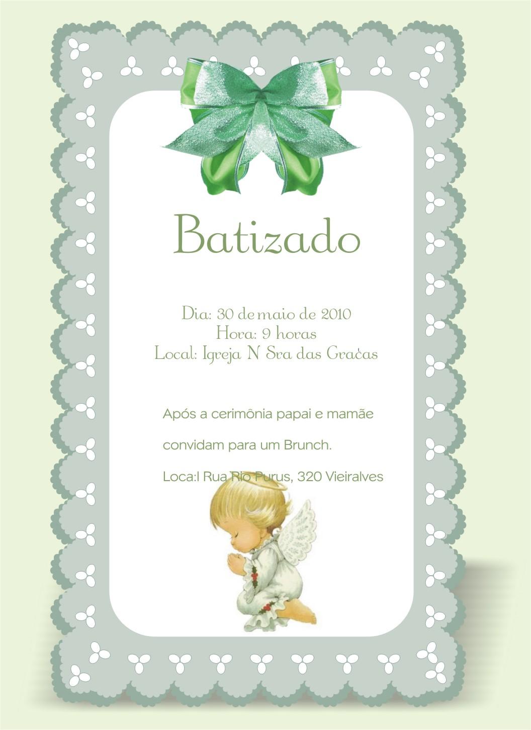 Artsyl Design Gráfico Convites Batizado