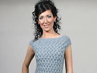 Bayanlar için örgü yarım kollu mini etekli elbise modeli