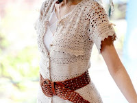 yazlık örgü elbise modeli