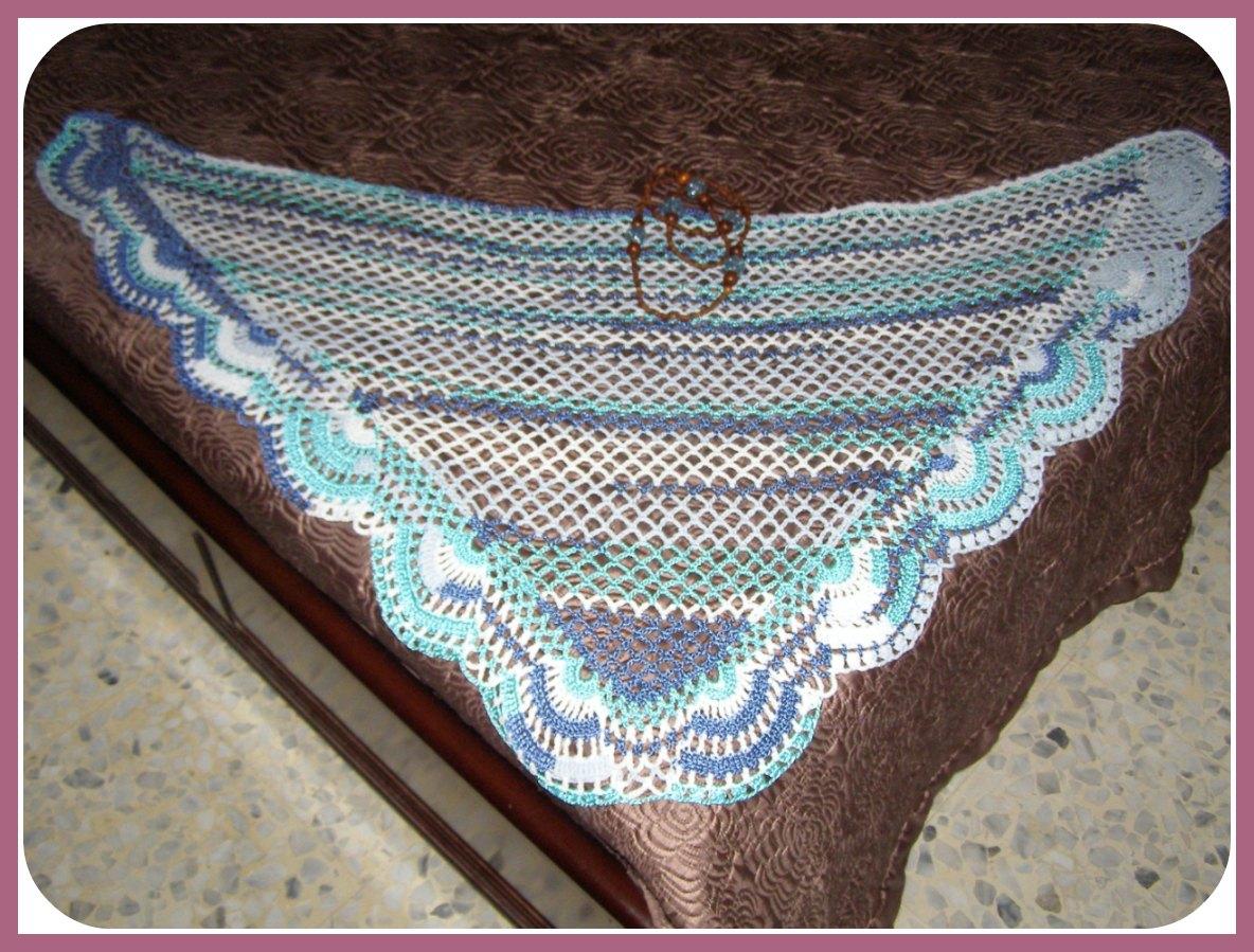 Chal a crochet fácil, fácil