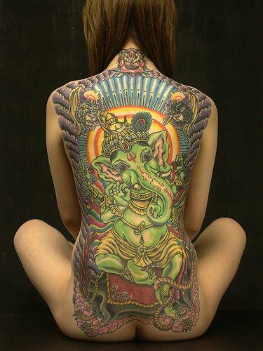 For them  elephants represent Indian Elephant Art Tattoo
