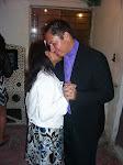 + Monseñor Victor y su esposa, bailando en la fiesta de la boda.