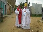 + Monseñor Gonzalo Jaramillo Hoyos y el Rev. P. Abelardo.