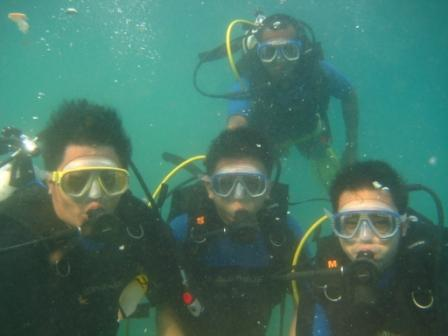 diving at nusa dua
