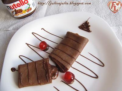 Nutella Chocolate Crêpe كريب الشوكولاتة بنوتيللا