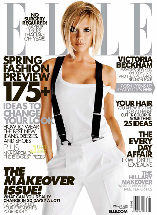 Elle Cover Victoria Beckham Moreover, June's Elle talks about the season's