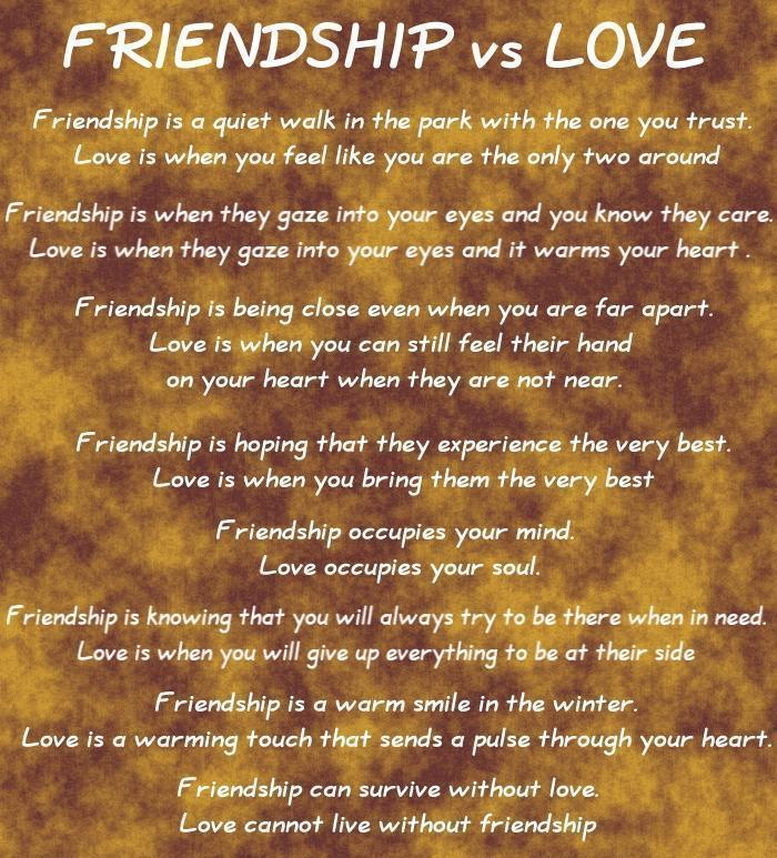 Friendship v.s Love