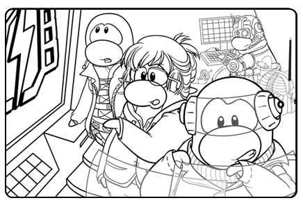 world life club penguin secrets new epf coloring page