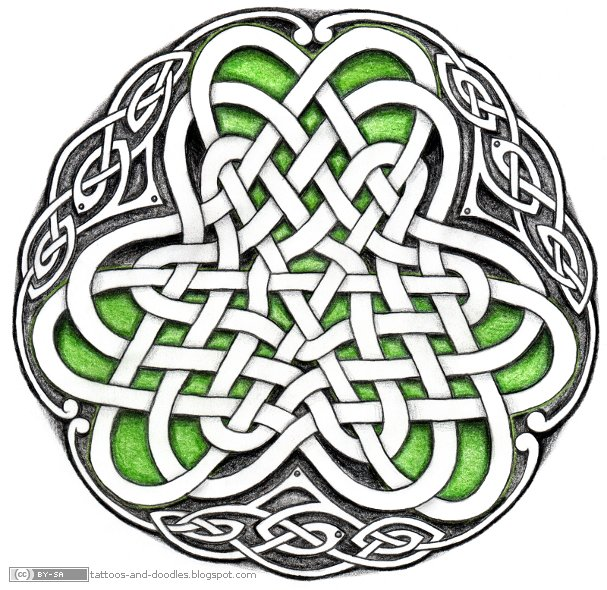 Irish Pride Flag colored Celtic shamrock by Captain Bret … Celtic Tattoos