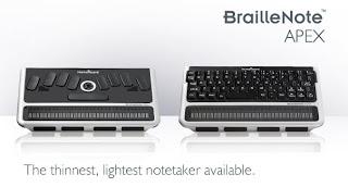 Braillenote Apex - wersja z klawiaturą brajlowską oraz QWERTY