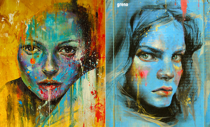 G i f t e d m u s i c art abstract portraits for Lee s painting