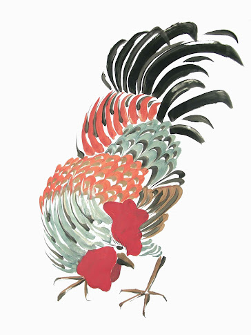 Crouching Rooster