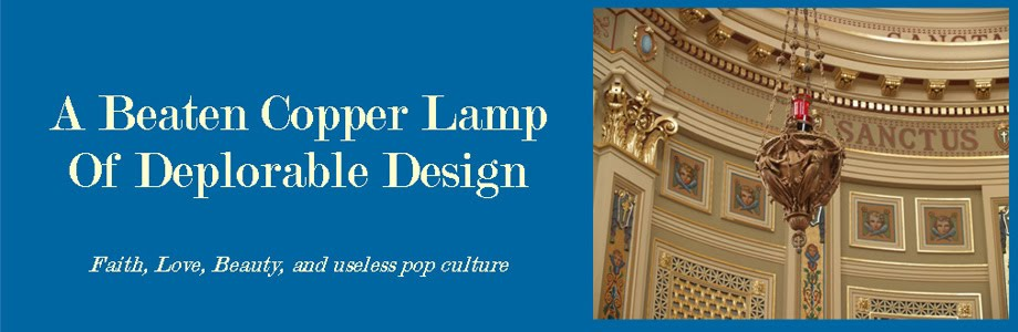A Beaten Copper Lamp of Deplorable Design