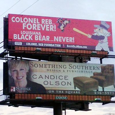 Pro-Colonel Reb billboard is an EPIC FAIL