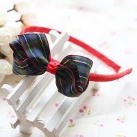 lovely blue bow hairband -- HA143-RM18 per piece