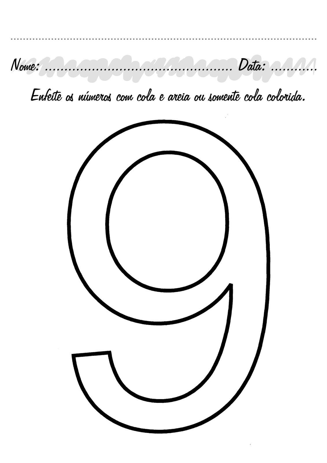 IMAGEN DEL NUMERO 9 PARA COLOREAR - Imagui