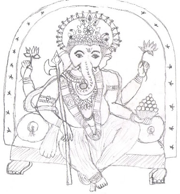 sketches of Vinayagar wallpapers