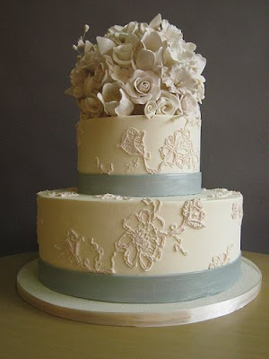 Lace Design Wedding Cake : Ariel Yve Design: Friday Flowers: Cake Coquette