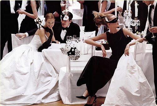 Wednesday Inspiration Black and White Wedding