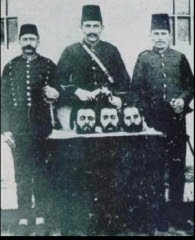 Ottoman Turk Officers with  quot Trophy Heads quot  of Macedonian RebelsOttoman Turks People