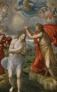 Bautismo de Jesús. Navarrete. 1567