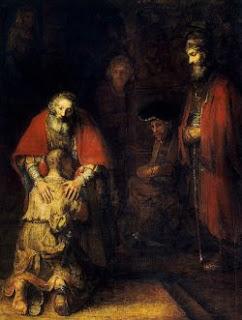El regreso del hijo prodigo. Rembrandt, 1669. Museo Hermitage, San Petersburgo. (Curiosidad: Este maravilloso cuadro fue pintado el mismo año de su muerte)